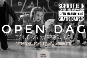 Dance division open dag 23 feb 2020